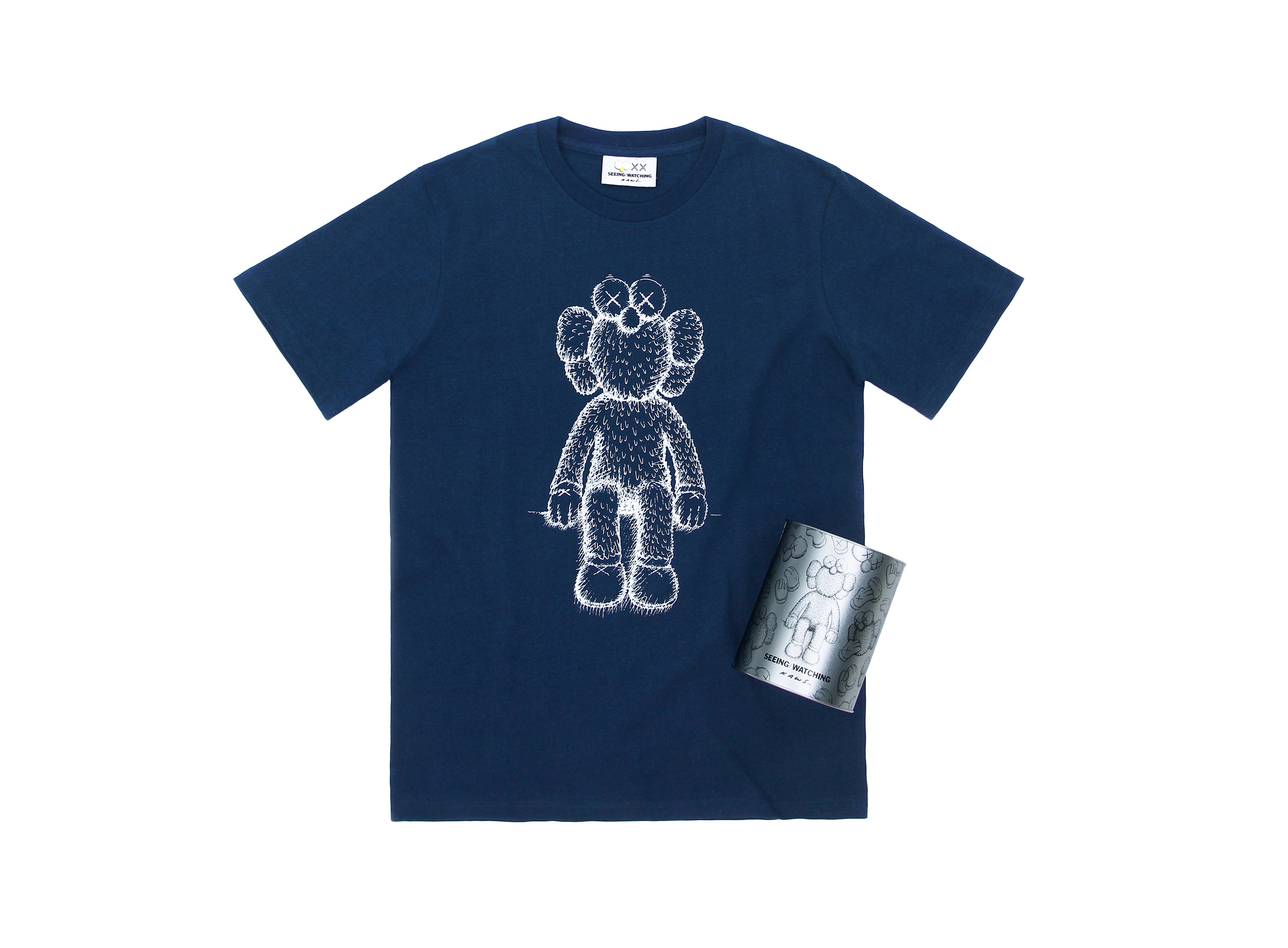 Kaws Seeing/Watching Bff Canned Tee Navy by Stock X