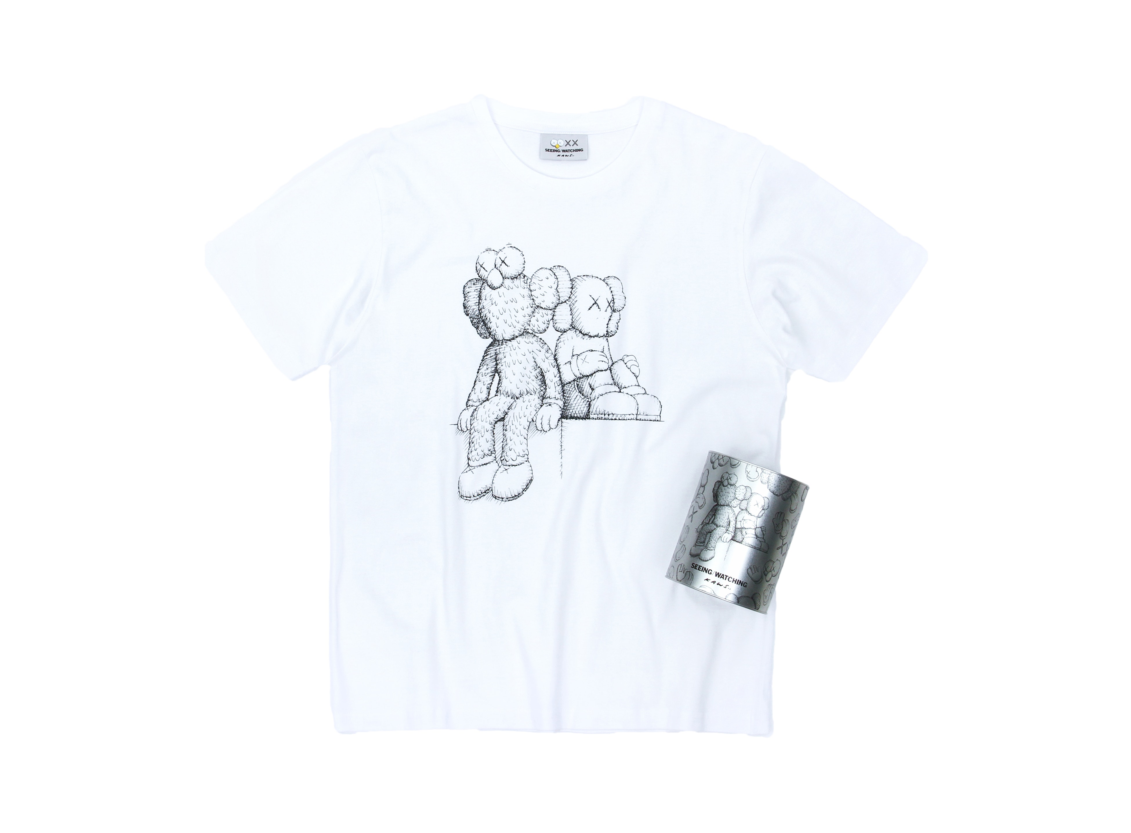 KAWS Seeing/Watching Canned Tee White