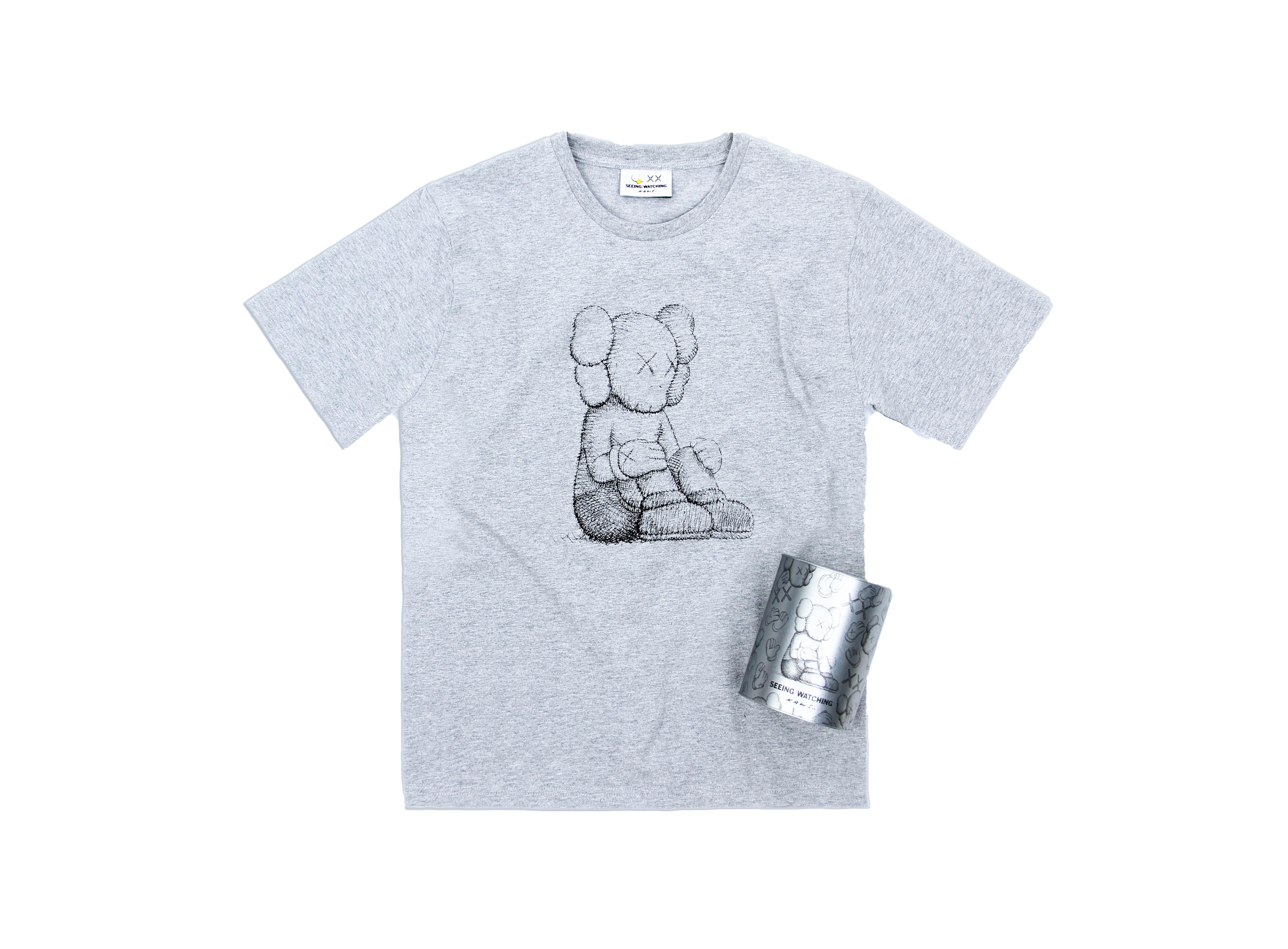 KAWS Seeing/Watching Companion Canned Tee Grey