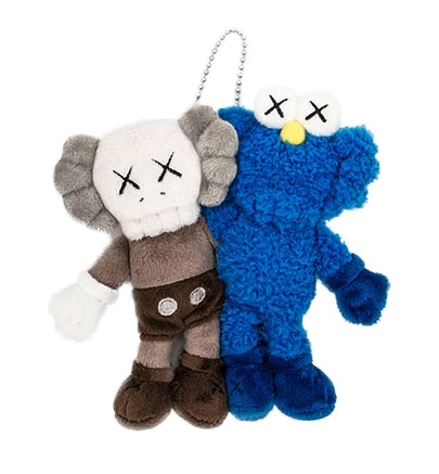 Kaws Seeing/Watching Plush Keychain Grey/Blue