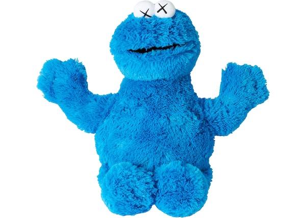 KAWS Sesame Street Uniqlo Cookie Monster Plush Toy Blue