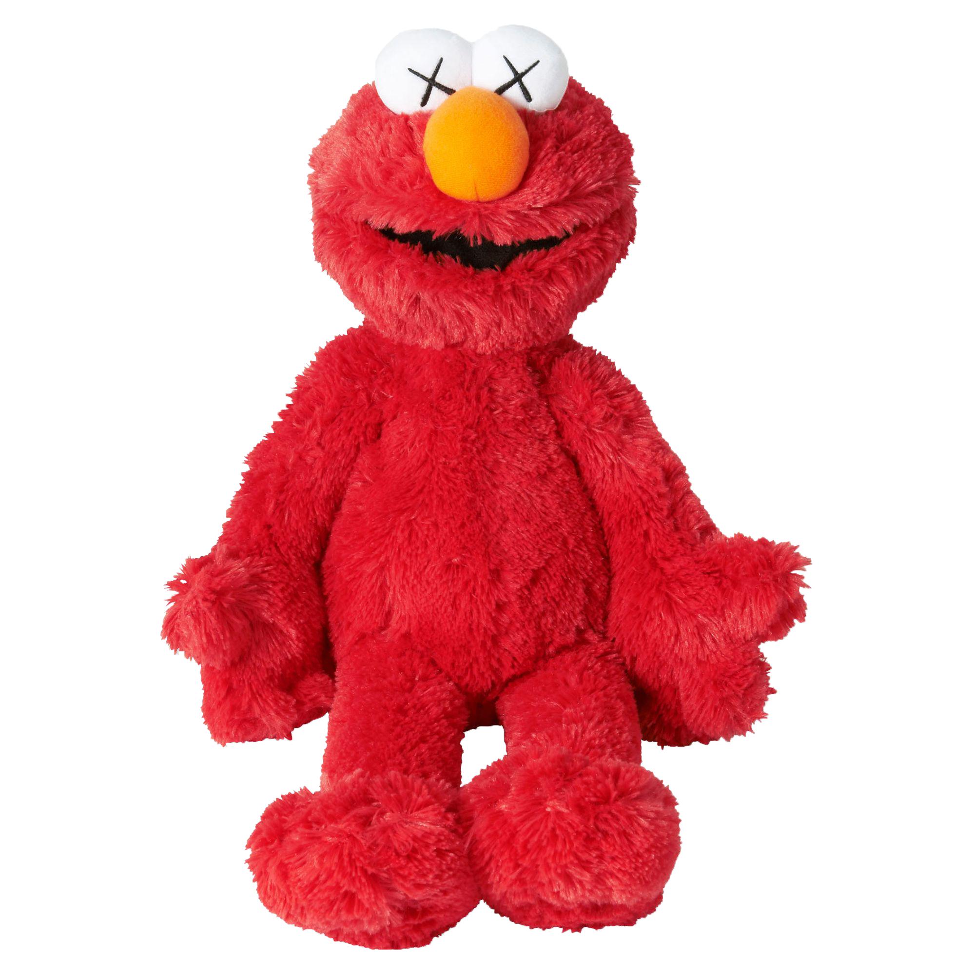 Kaws Sesame Street Uniqlo Elmo Plush Toy Red