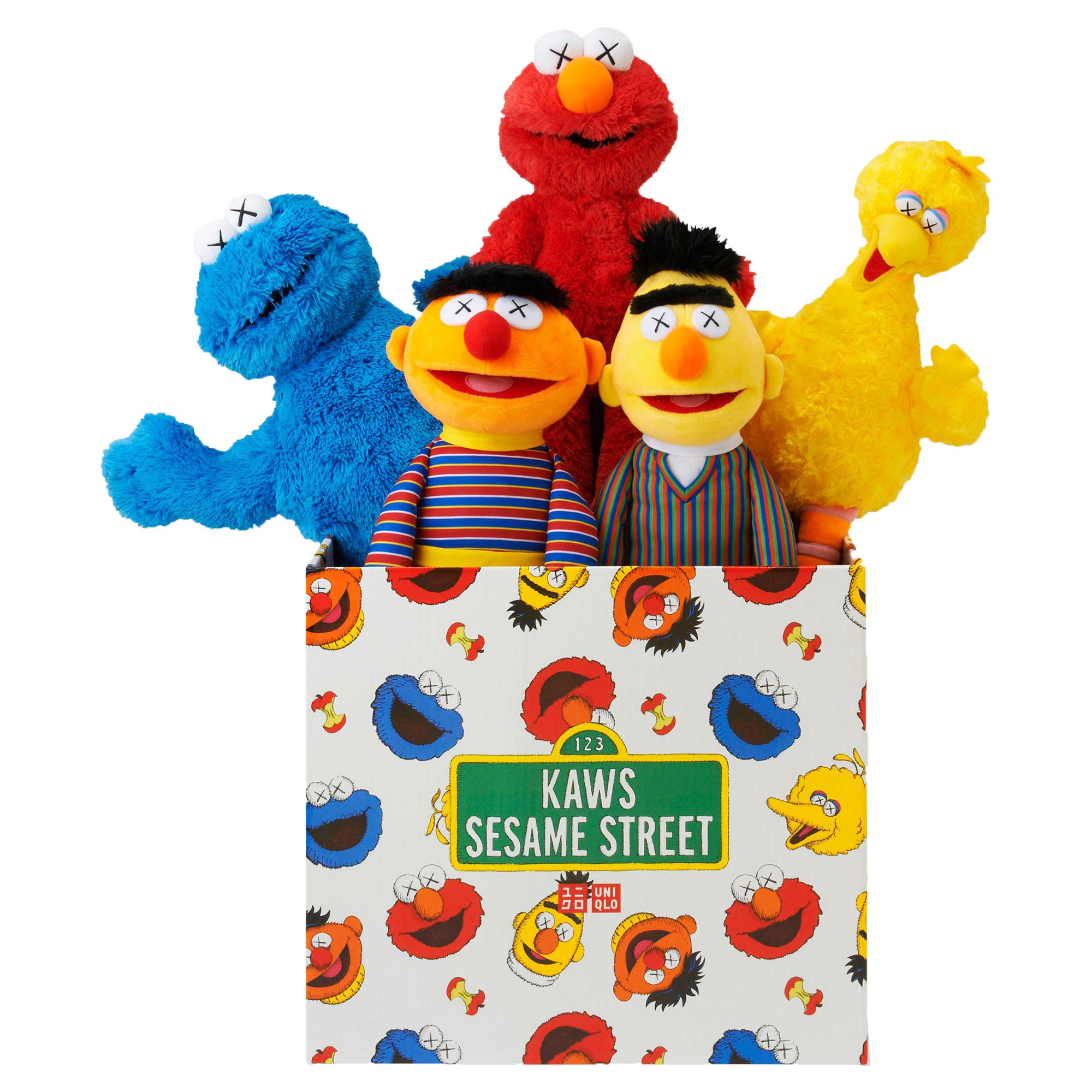 Kaws Sesame Street Uniqlo Plush Toy Complete Box Set Multi