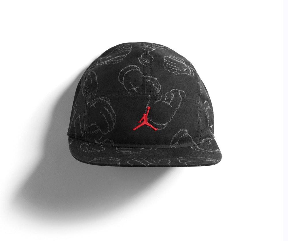 Kaws x Jordan 5-Panel Cap Black
