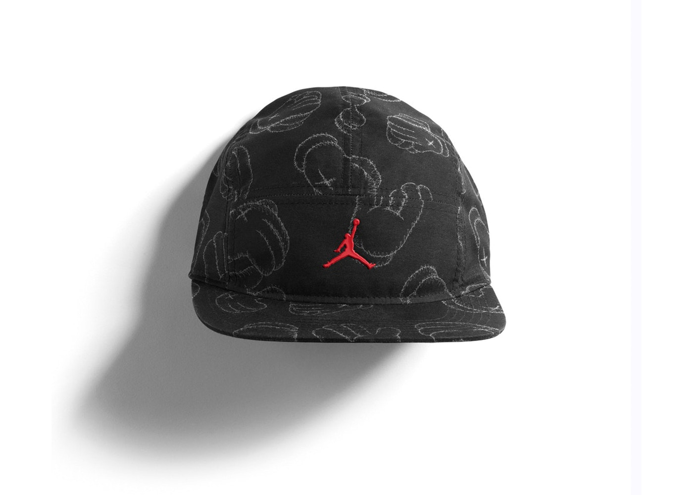 newest bf97b 56206 KAWS x Jordan 5-Panel Cap Black