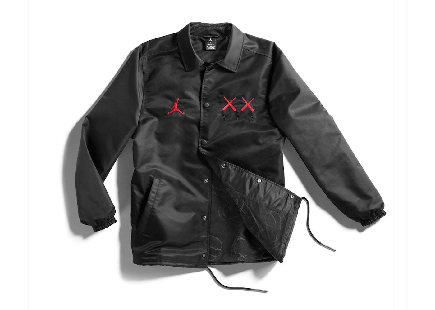 9ac8cea1ca7 Kaws x Jordan Satin Coaches Jacket Black - 2017