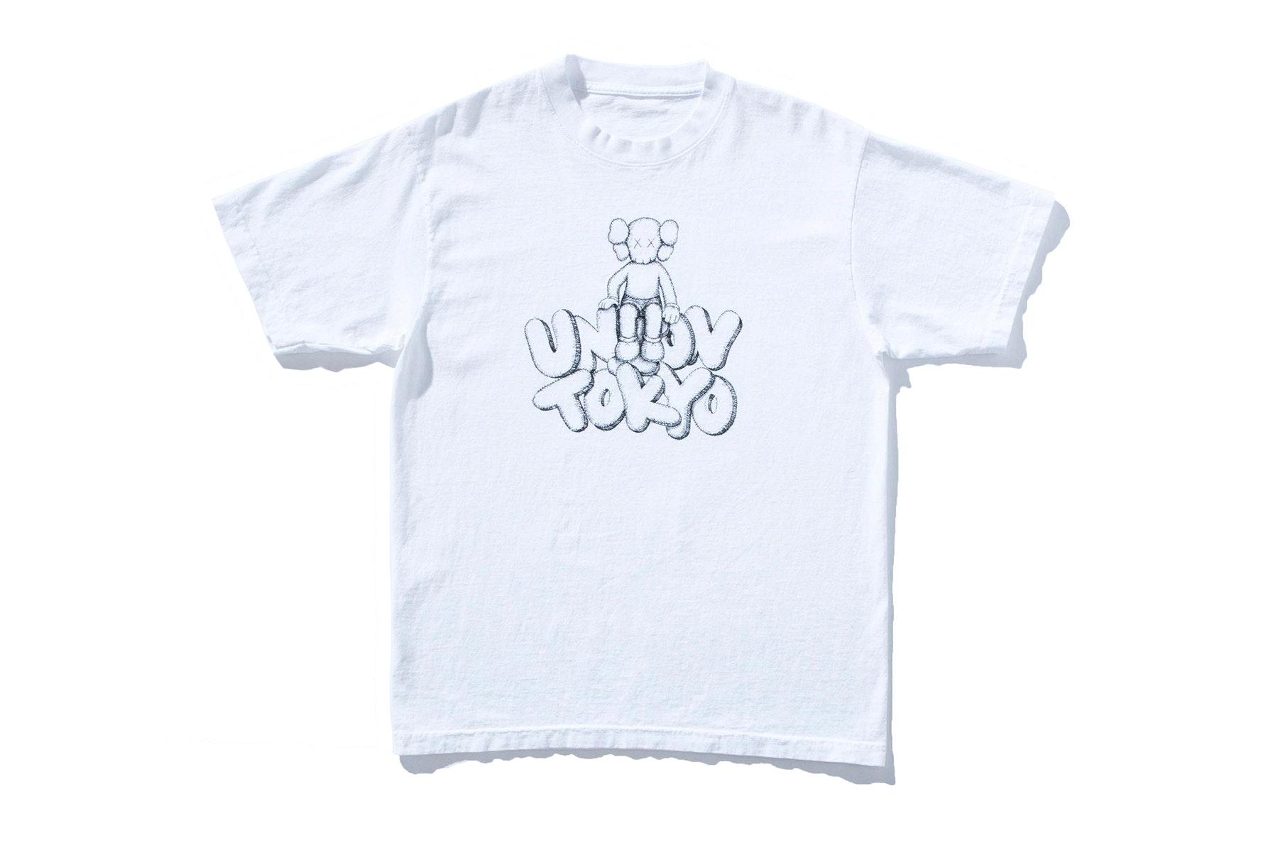 Kaws x Union Tokyo Tee White