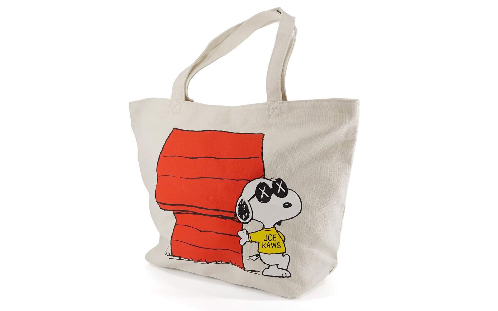 Kaws x Uniqlo x Peanuts Snoopy Dog House Tote Bag Beige