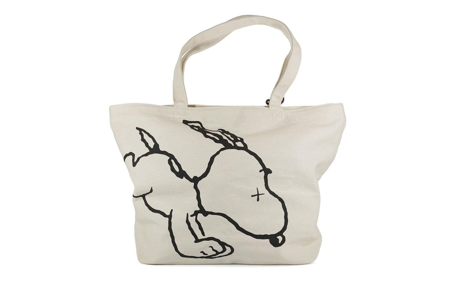 Kaws x Uniqlo x Peanuts Snoopy Tote Bag Beige