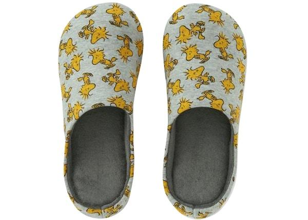 5652013c25 Kaws x Uniqlo x Peanuts Woodstock Room Shoes Gray
