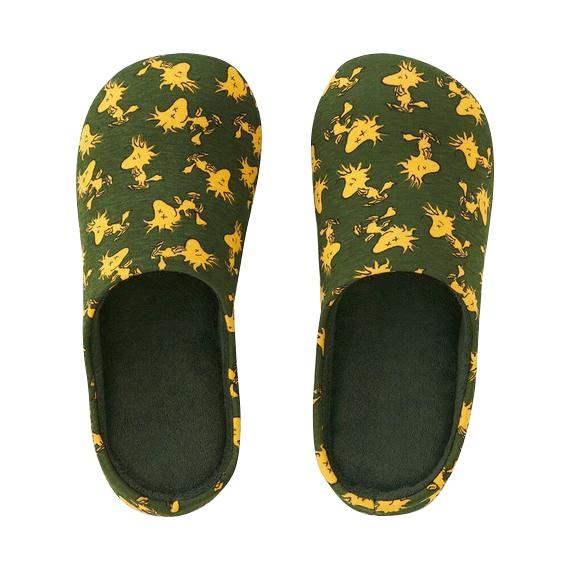 KAWS x Uniqlo x Peanuts Woodstock Room Shoes Olive