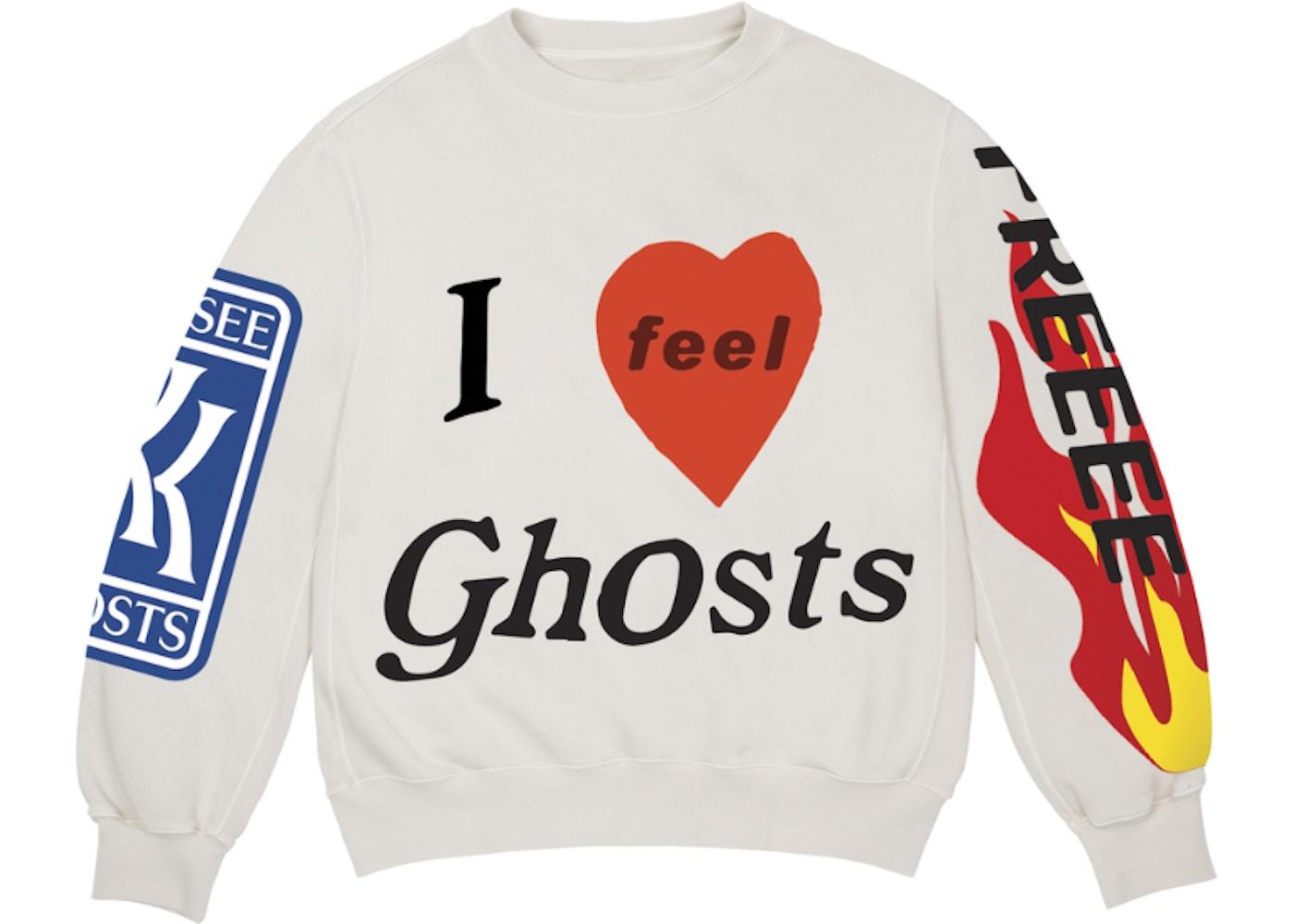 Kids See Ghosts Freeee Crewneck Sweatshirt Ghost Fw18