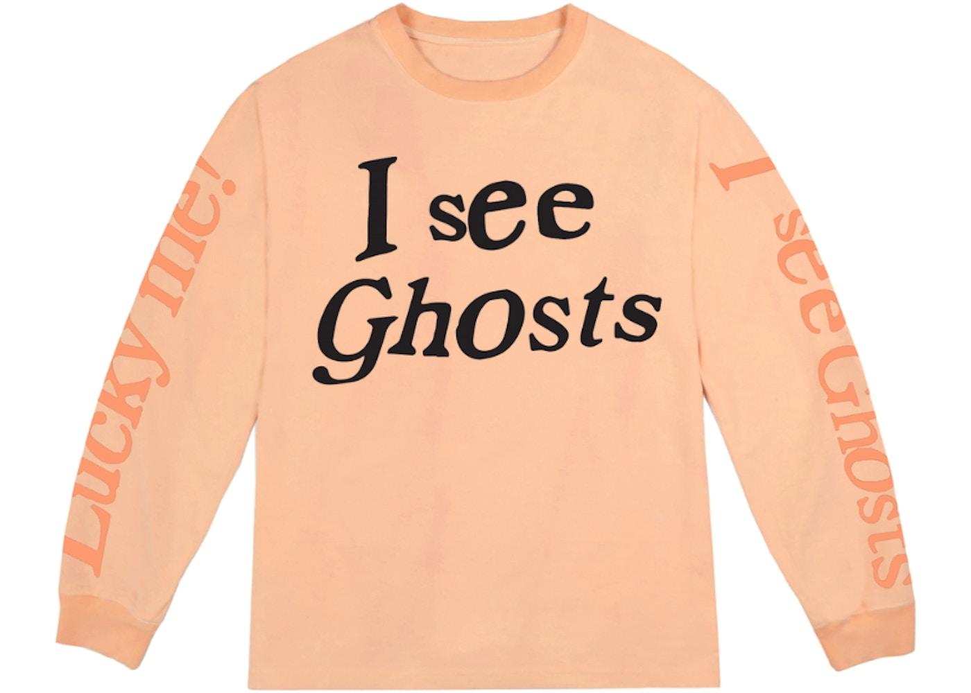 Kids See Ghosts I See Ghosts Long Sleeve Tee Neon Orange Fw18