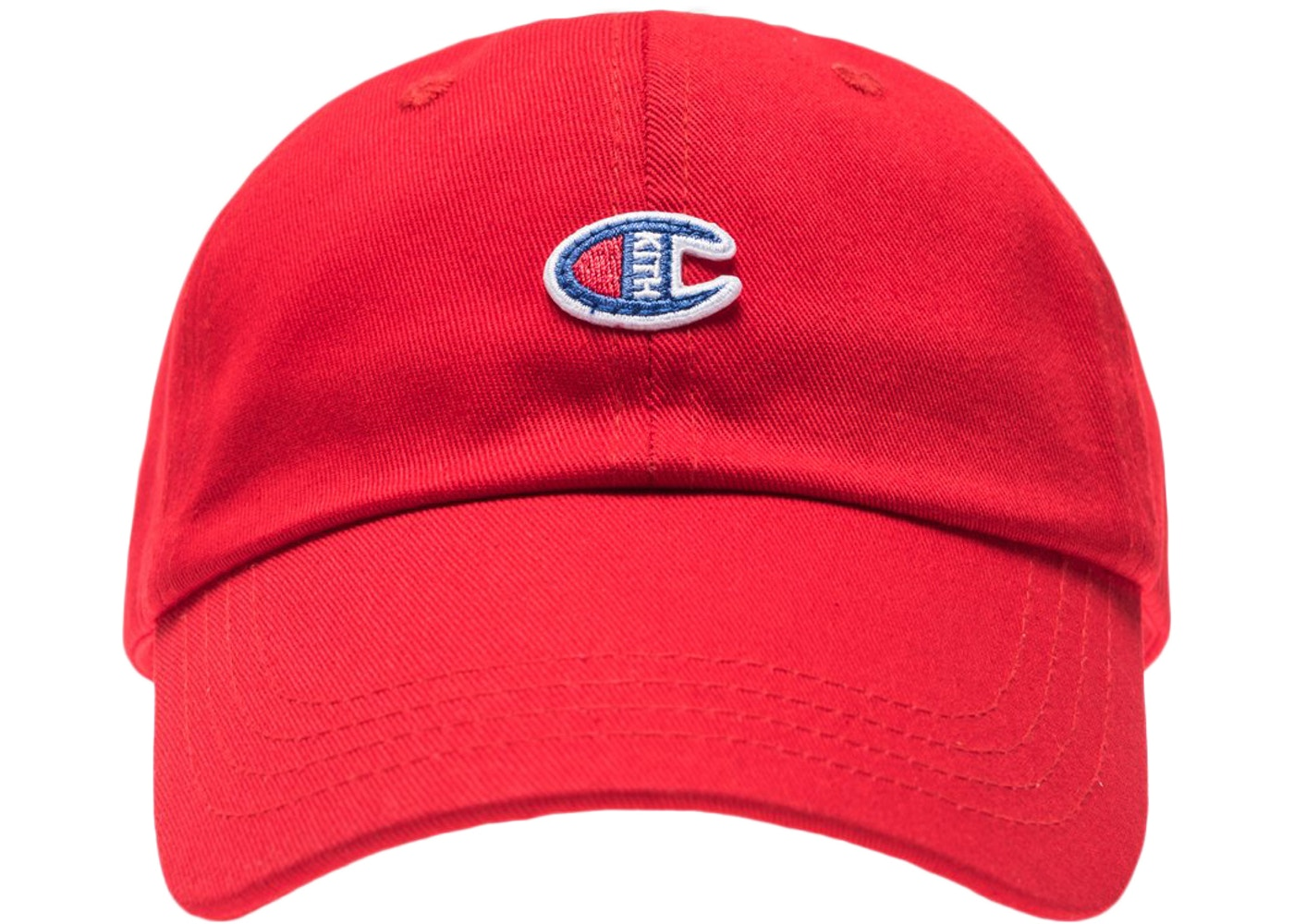 78f1c54c Kith Champion C Patch Hat Red - SS18