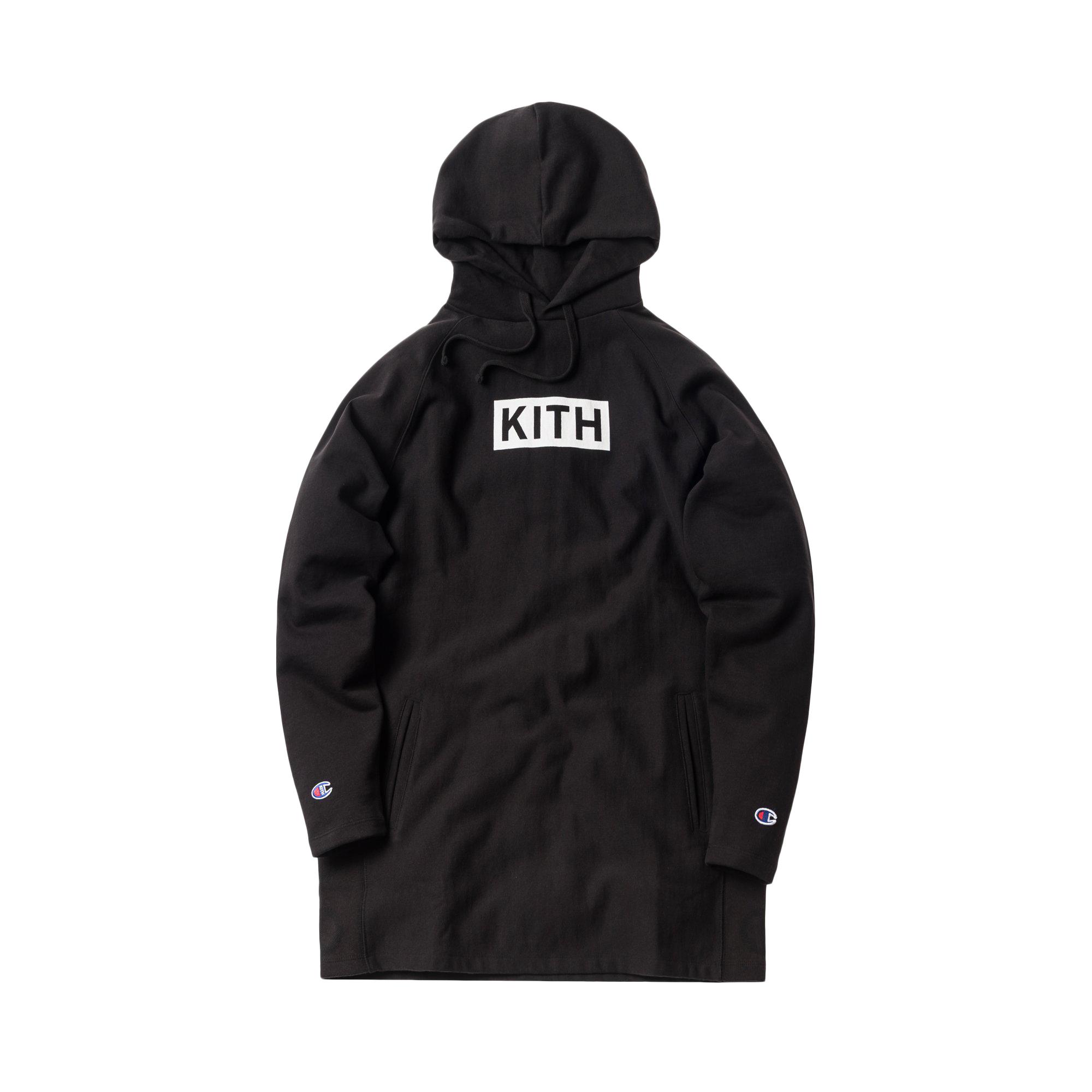 Kith Hoodie Kith Champion Black Kith Extended Extended Hoodie Champion Black EH2YeIbWD9