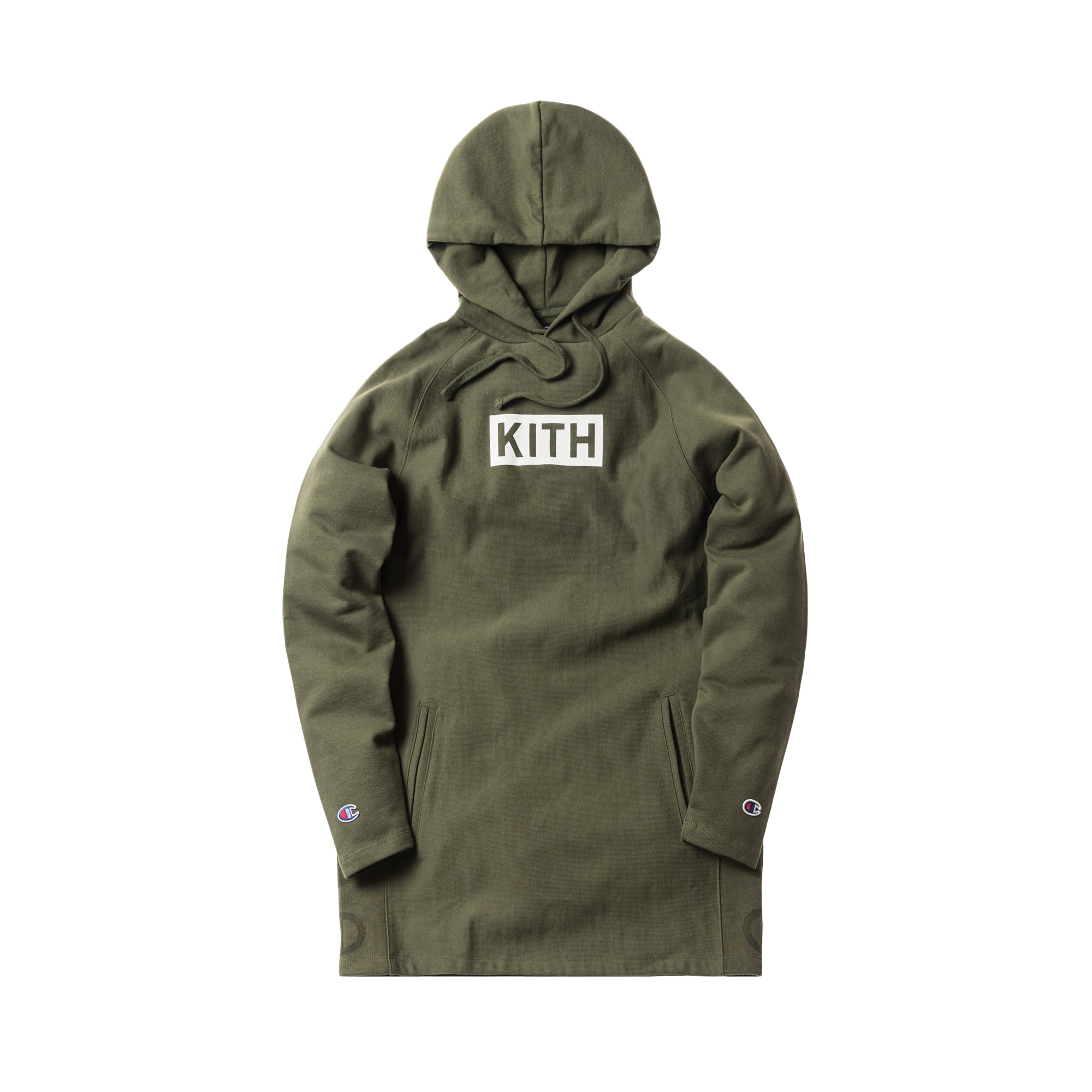 Champion Kith Hoodie Extended Olive Nyvn80OmwP