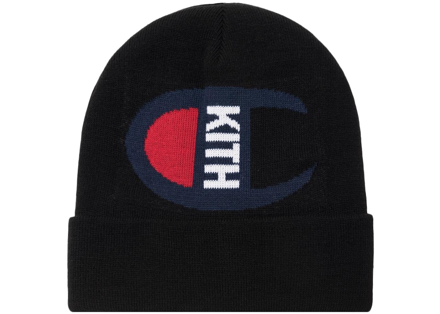 Sell. or Ask. View All Bids. Kith Champion Intarsia Logo Beanie Black b71cc782eb9