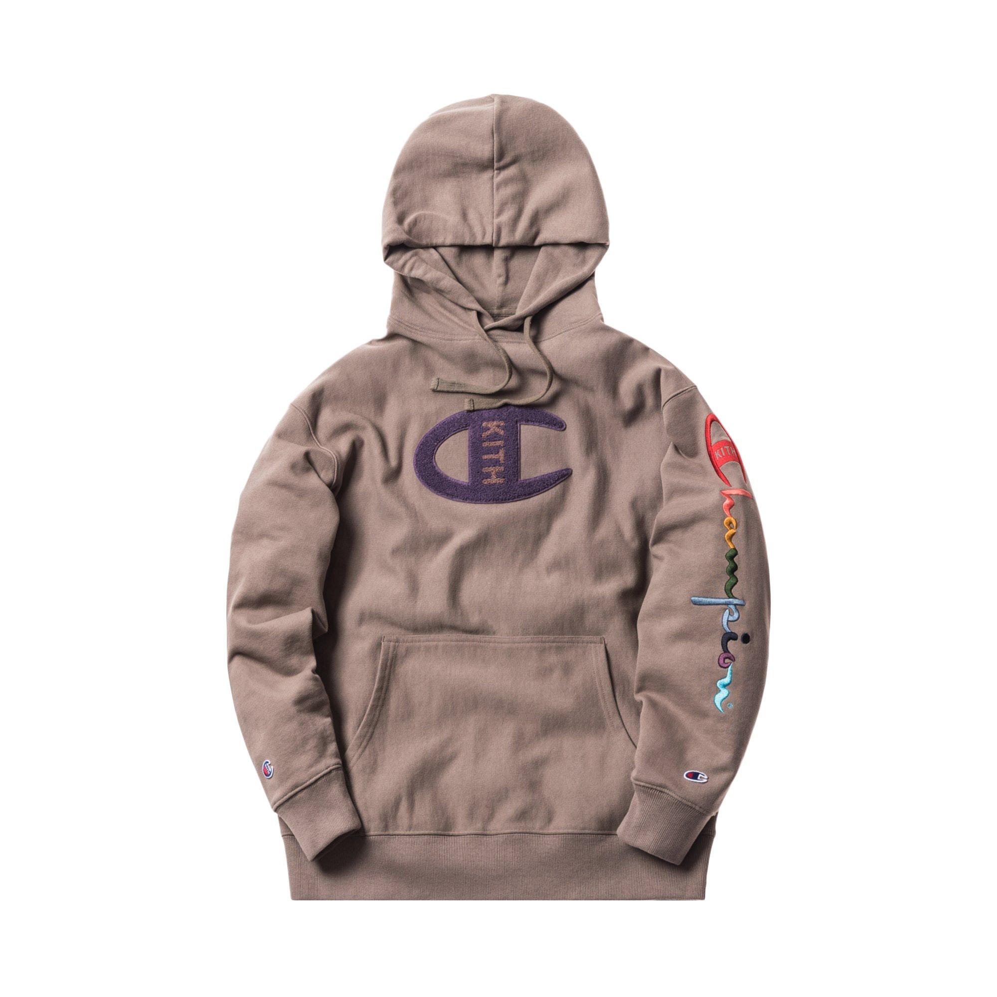 Kith Champion Logo Hoodie Cinder