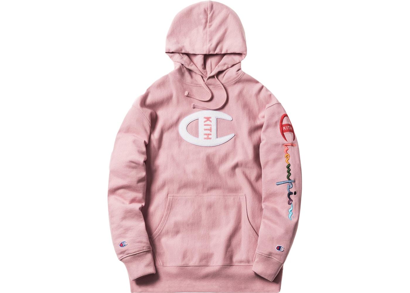 5e0fa345 Kith Champion Logo Hoodie Pink - SS18