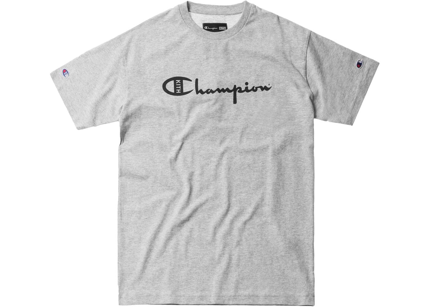 81a4e938d6895e Sell. or Ask. Size L. View All Bids. Kith Champion Script Logo Tee Heather  Grey