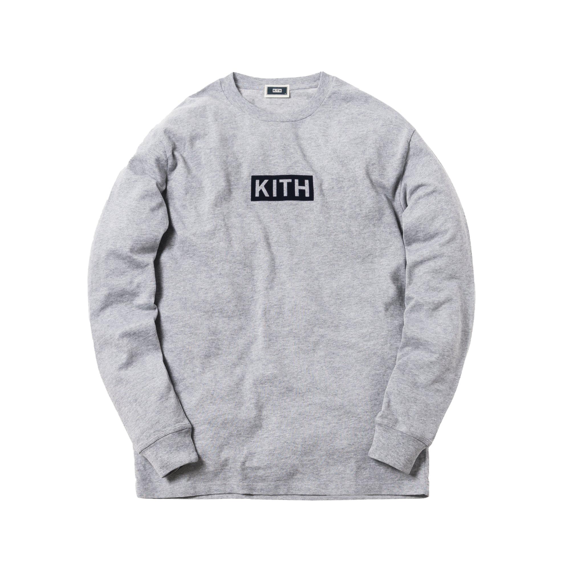 Kith Classic Logo L/S Tee Heather Grey