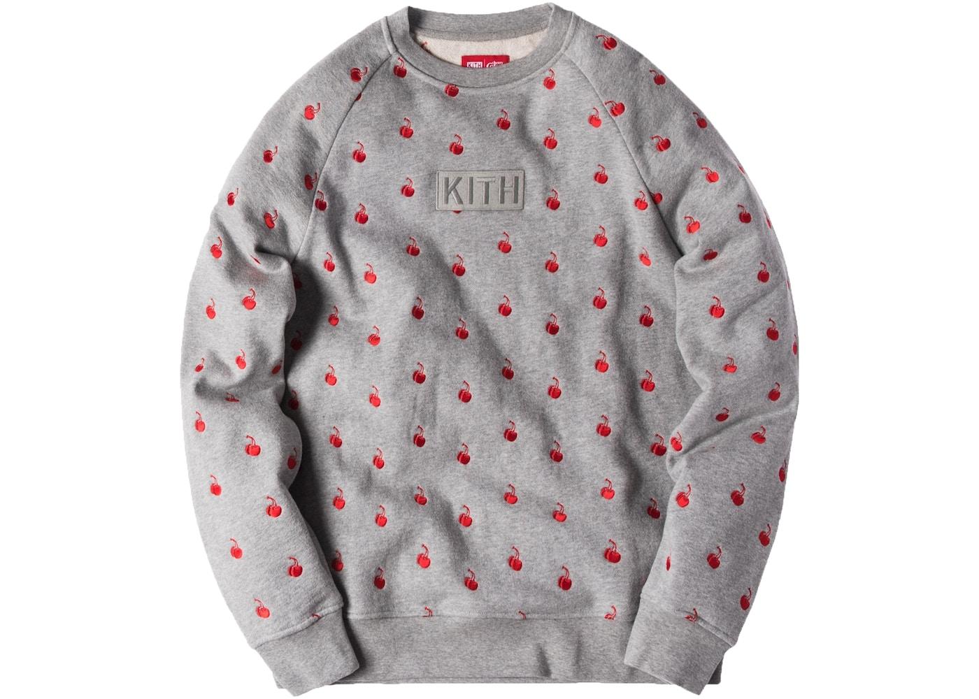 0a14bc7f Kith Coca Cola Cherries Crewneck Heather Grey - SS17