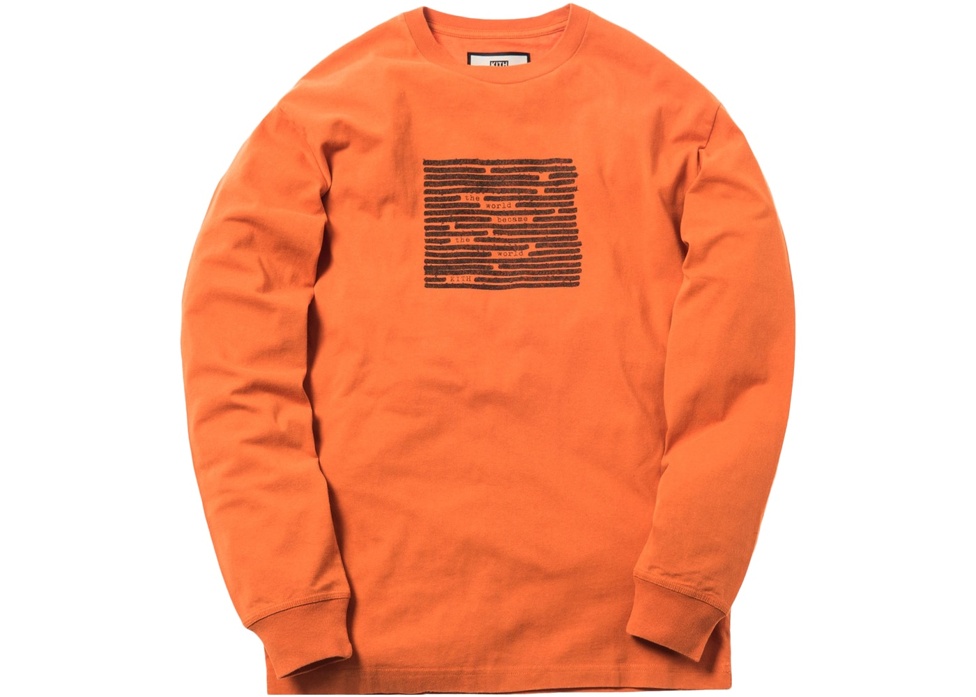 Kith Edits L S Tee Orange - FW18 0ee4c586182