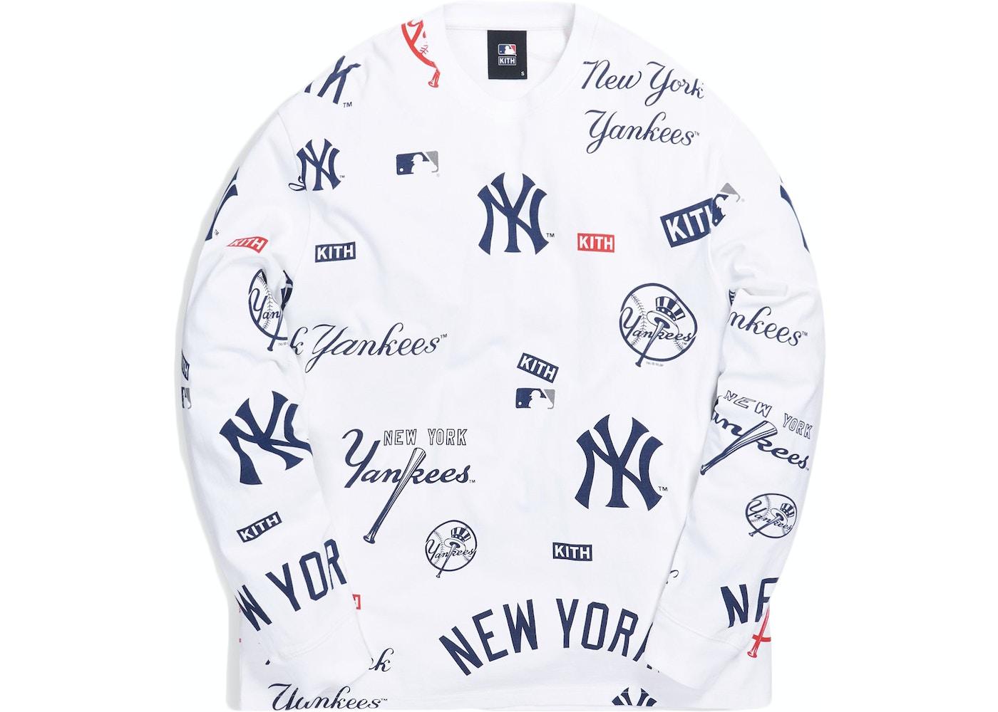 Kith For Major League Baseball New York Yankees All Over L S Tee White Fw20