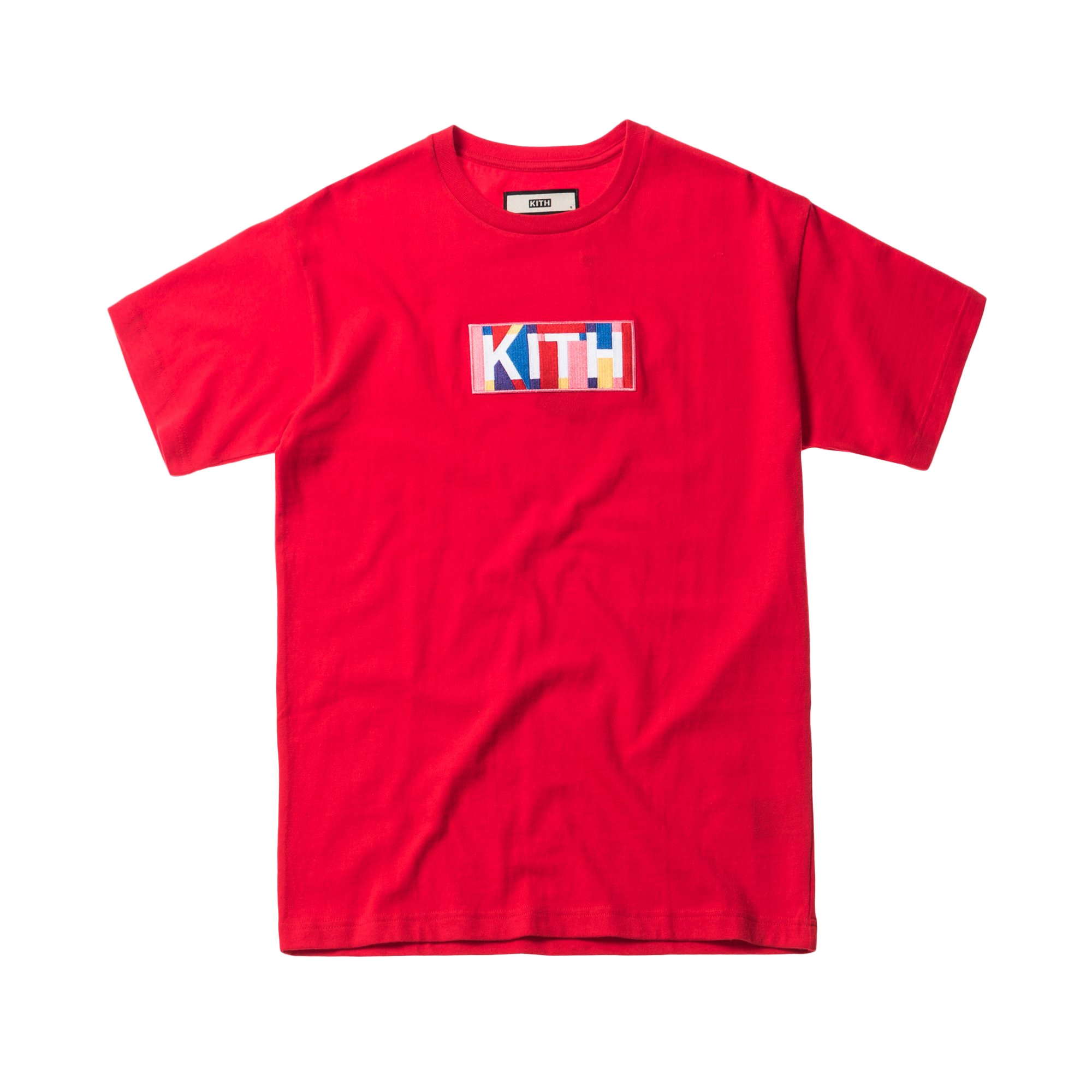Kith Geo Colors Tee Red