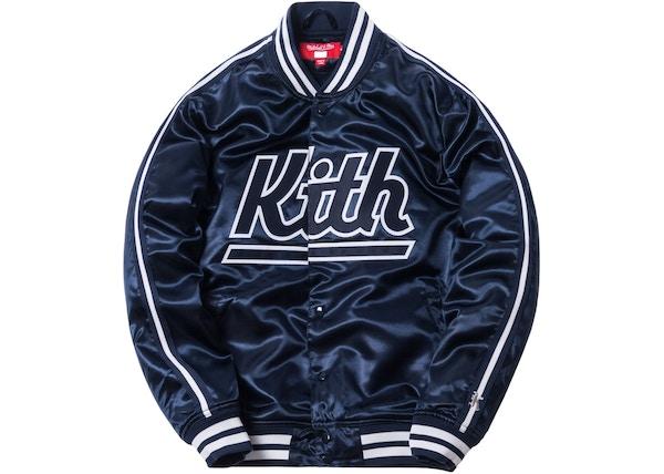 feb2b502 Kith x Mitchell & Ness Satin Warm-Up Jacket New York