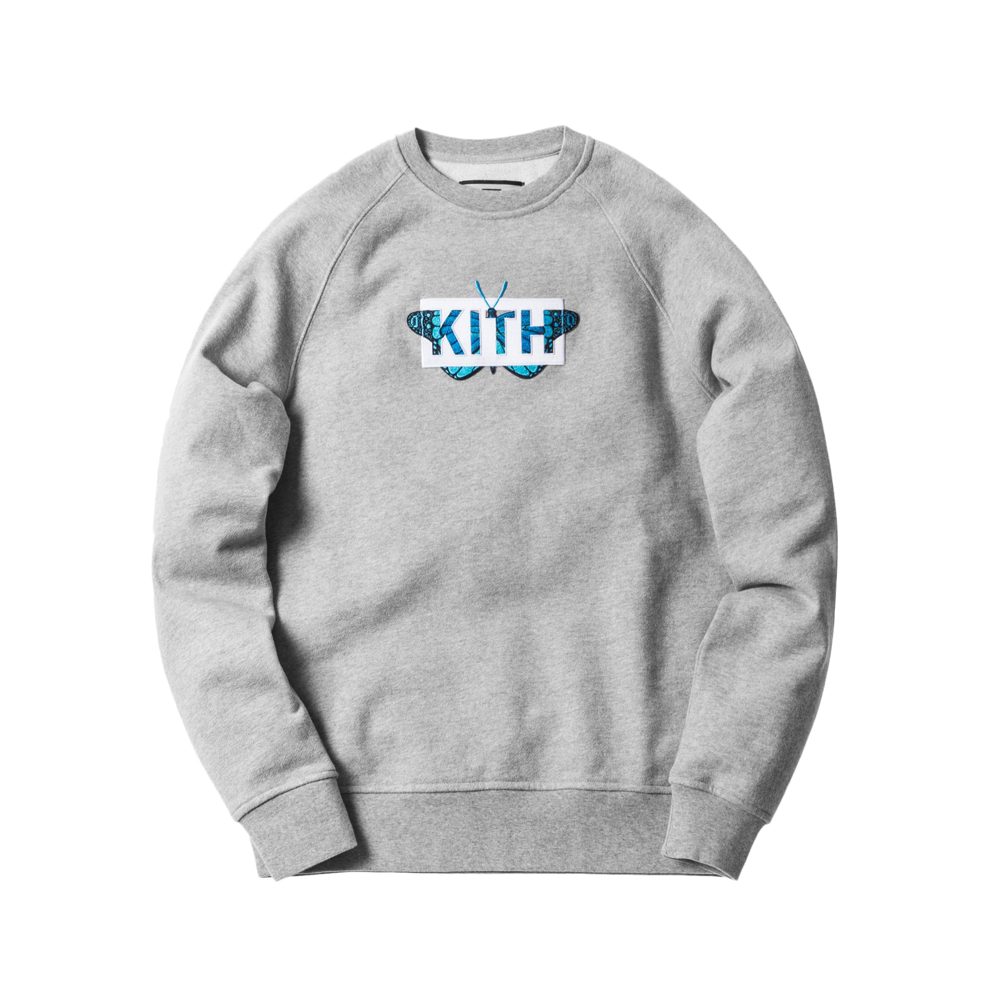 Kith Monarch Classic Logo Crewneck Heather Grey