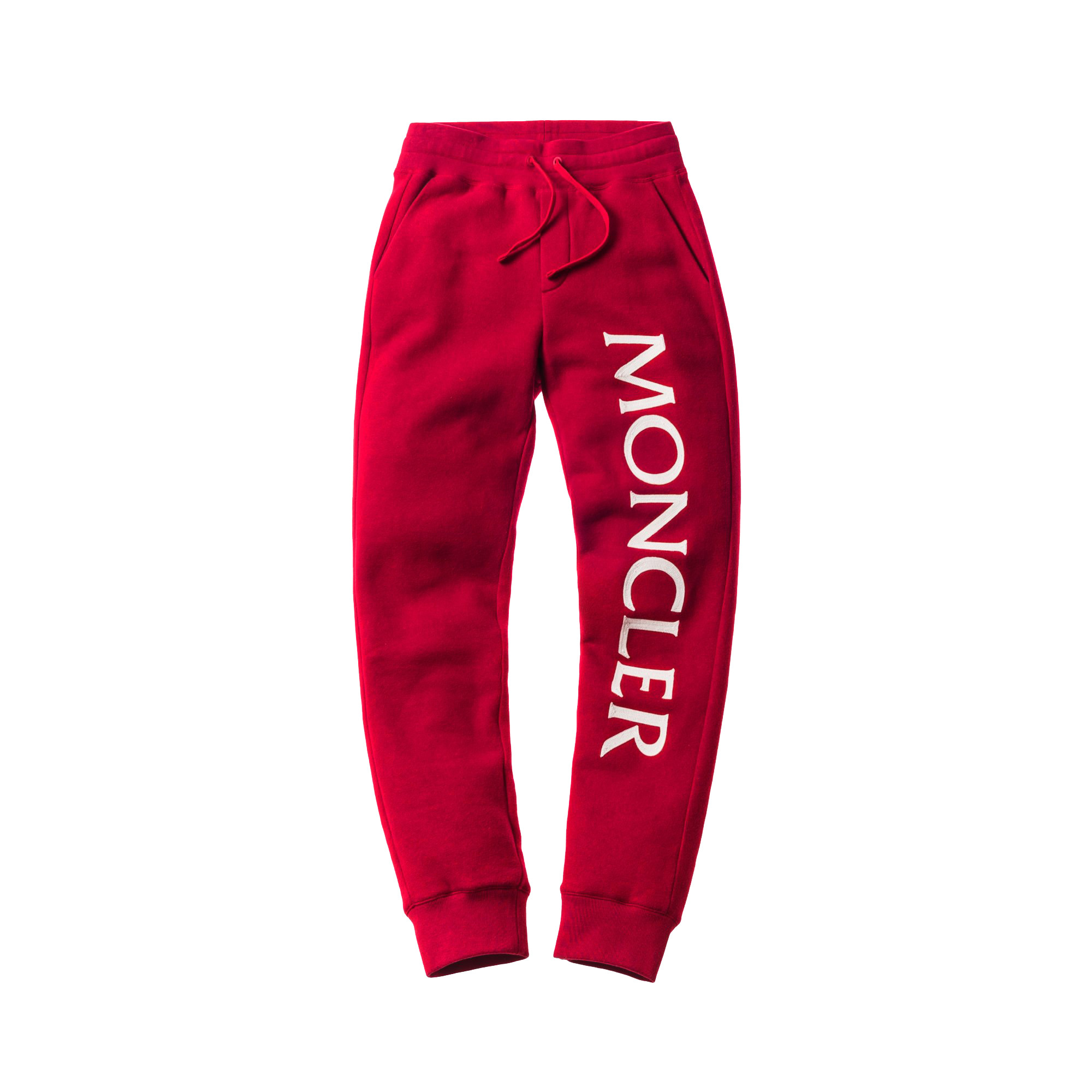 moncler red sweatpants
