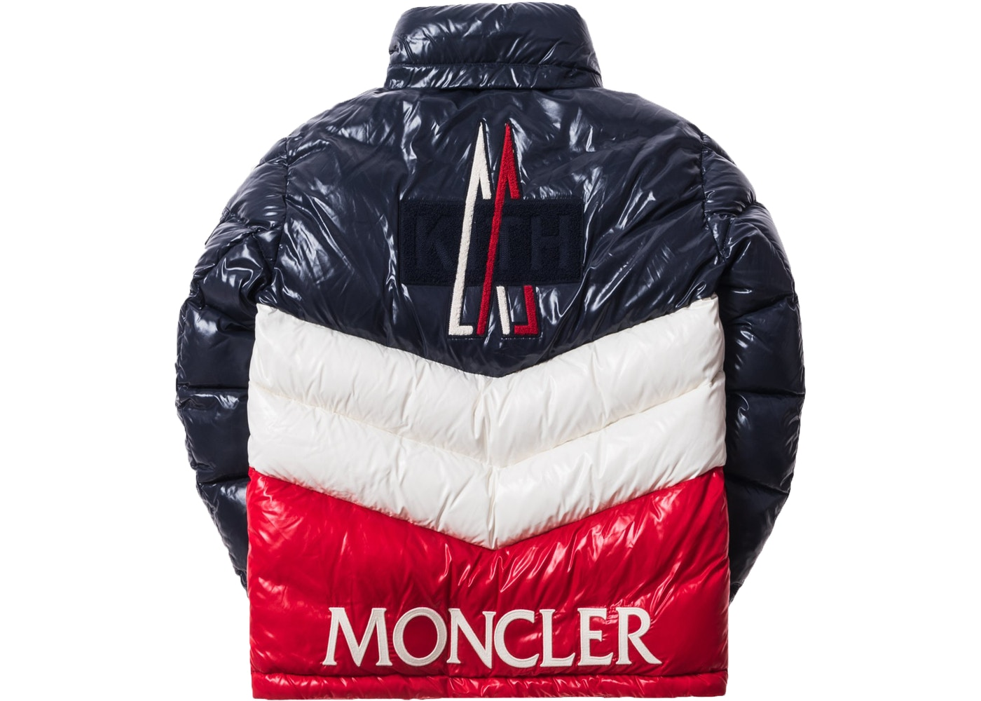 5fbf05c56 Kith Moncler Rochebrune Classic Down Jacket Navy/Red/White