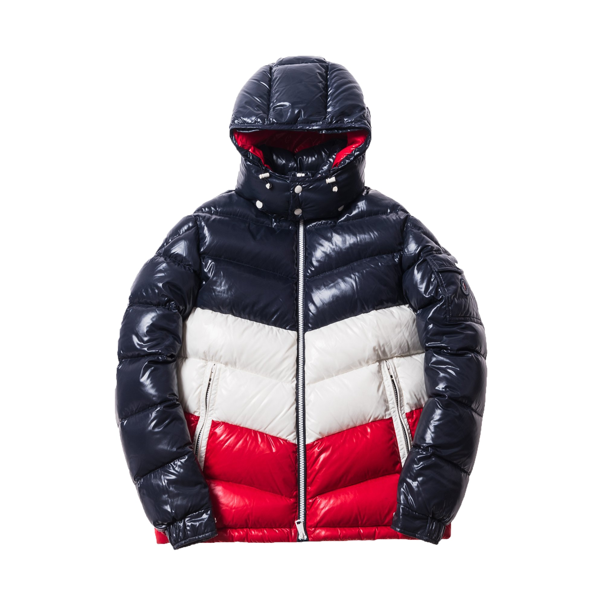 Kith Moncler Rochebrune Classic Down Jacket Navy/Red/White