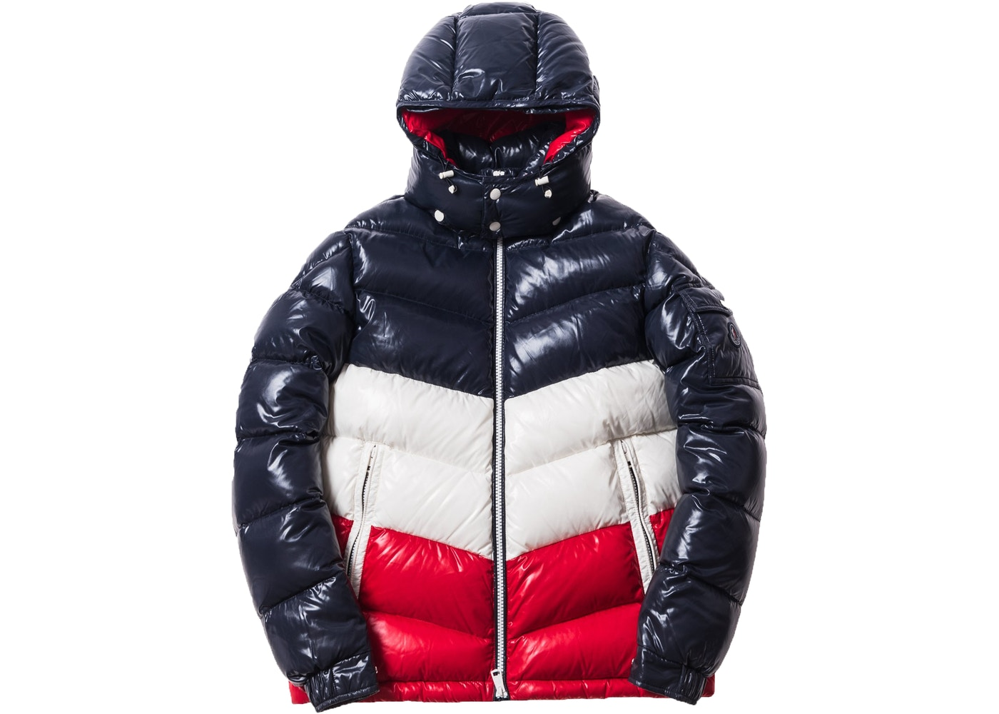 227bb7b88 Kith Moncler Rochebrune Classic Down Jacket Navy/Red/White
