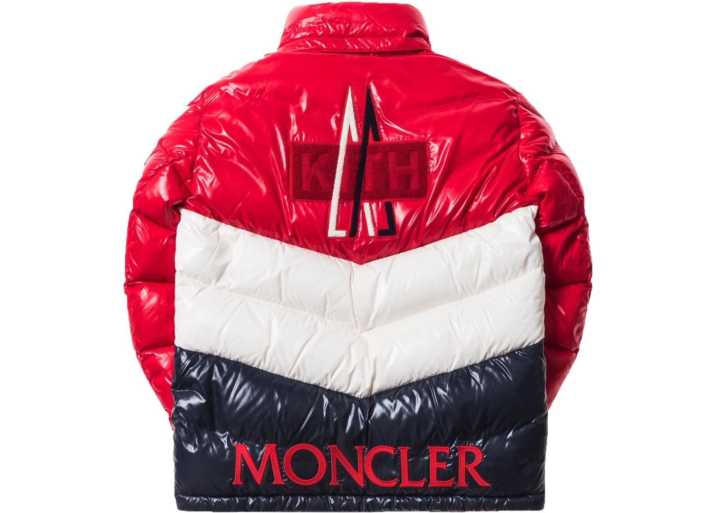 bf088ab52883 Kith Moncler Rochebrune Classic Down Jacket Red White Navy - FW17