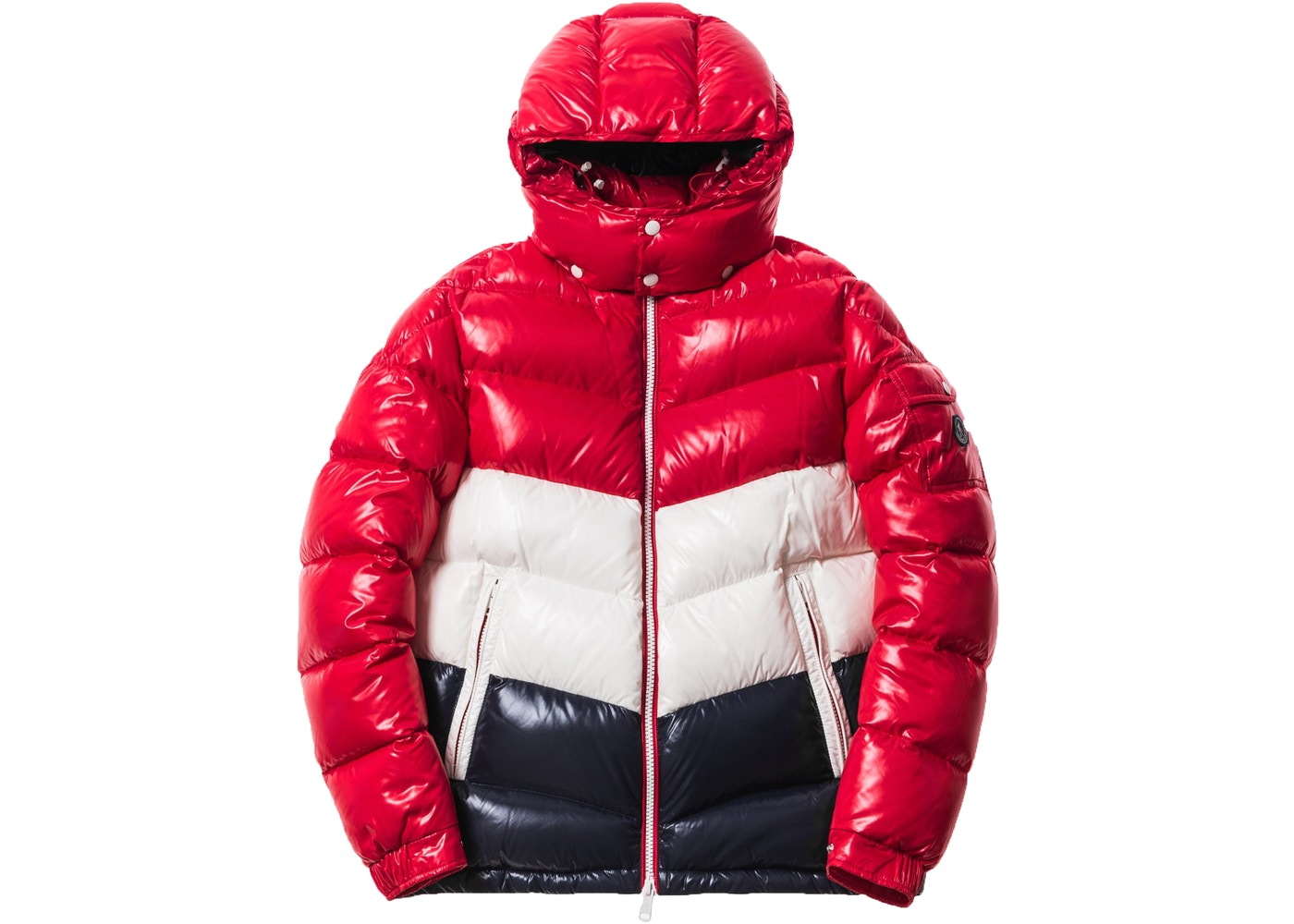406905cb0b3e Kith Moncler Rochebrune Classic Down Jacket Red White Navy - FW17