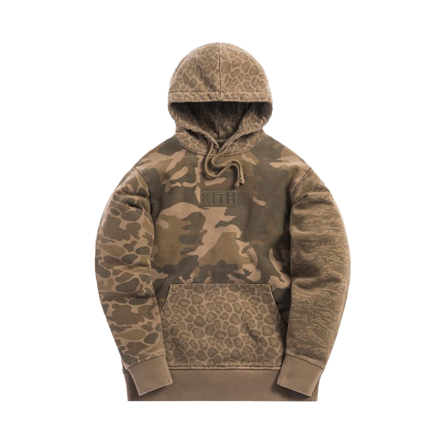 Kith Multi-Camo Williams Hoodie Green Camo