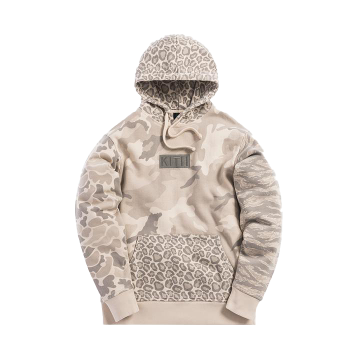 Kith Multi-Camo Williams Hoodie Off Beige Camo