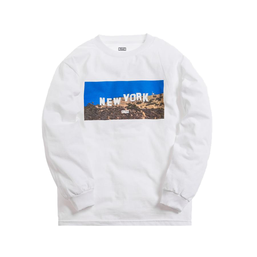 Kith New York Hollywood L/S Tee White