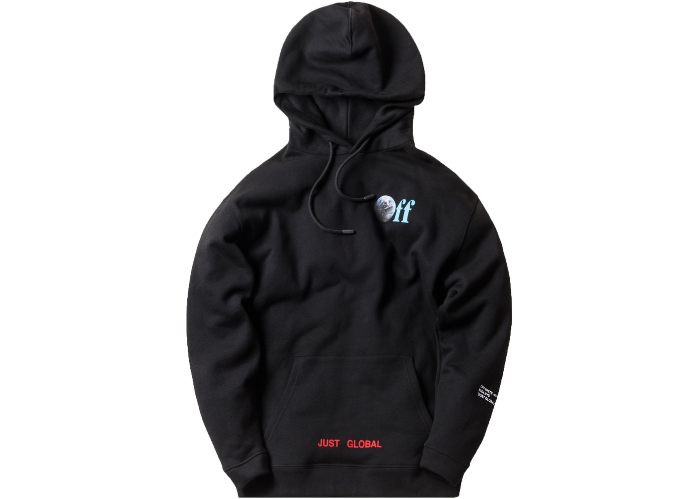 35600820b90a Kith Off-White Just Global Hoodie Black - FW17