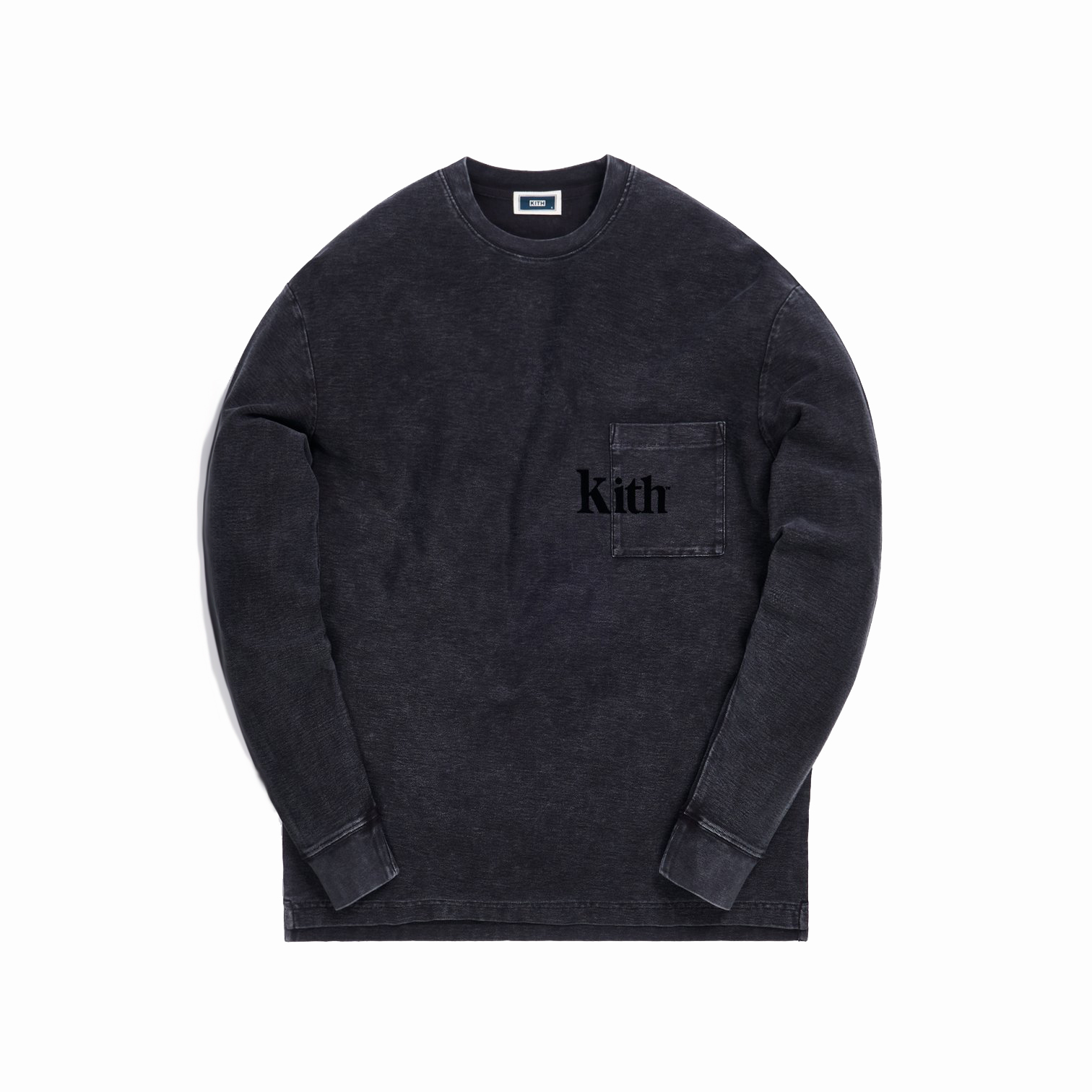 Kith Quinn Crystal Washed L/S Tee Black