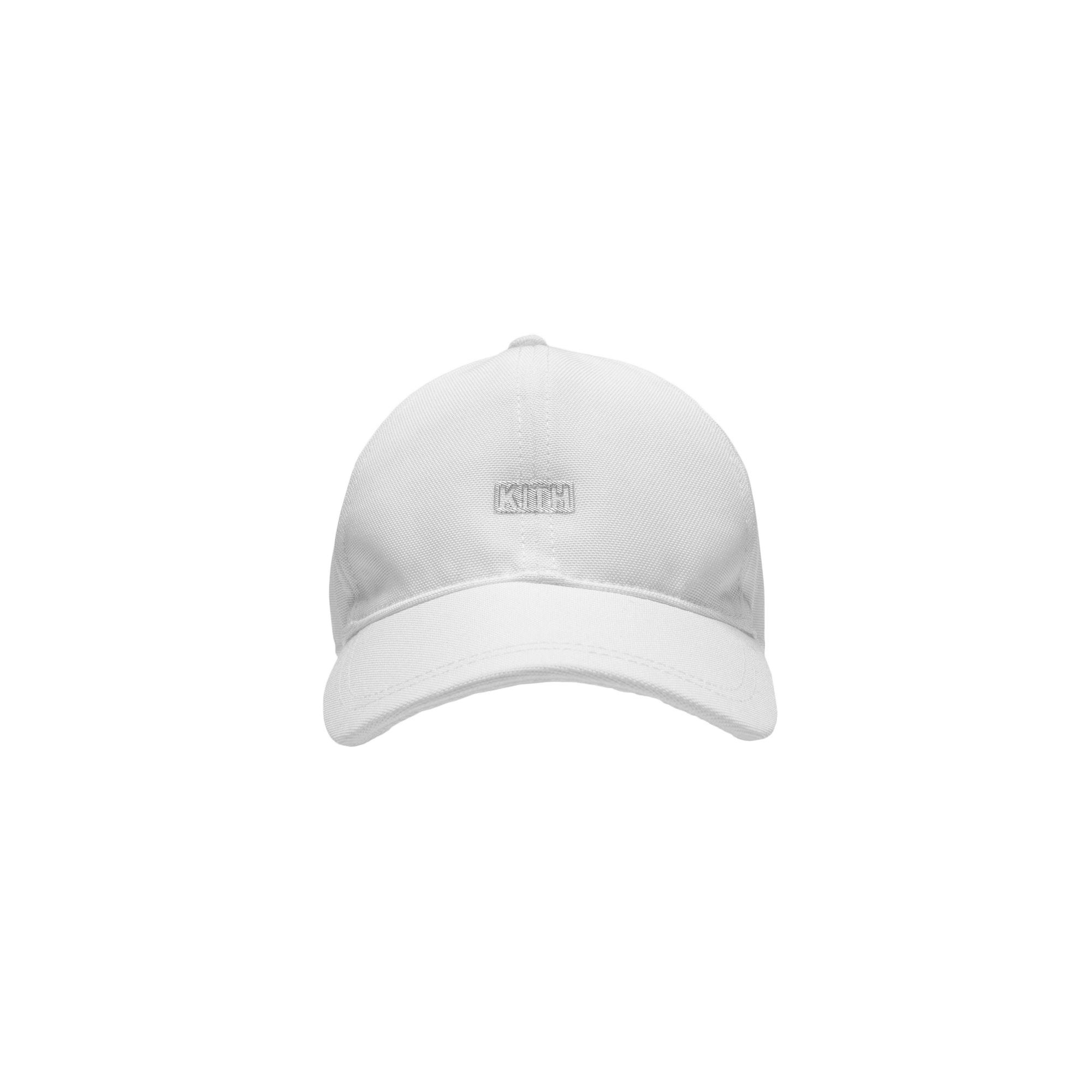 Kith Silver Classic Logo Cap White
