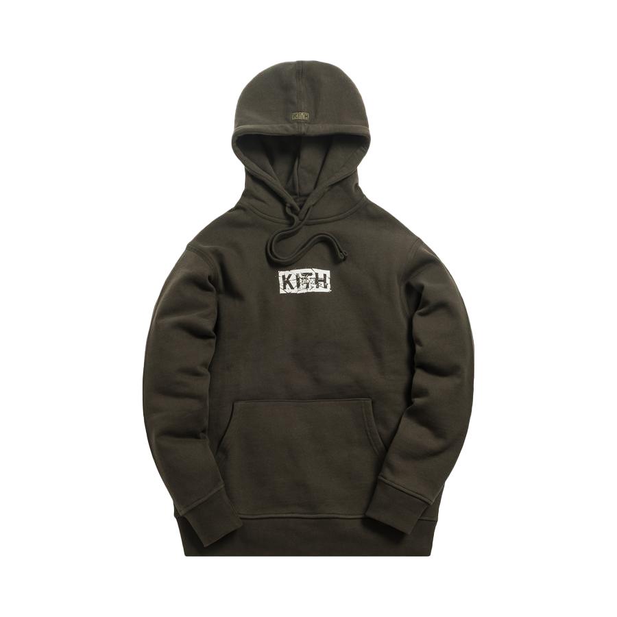 Kith Splintered Logo Hoodie Black/Olive