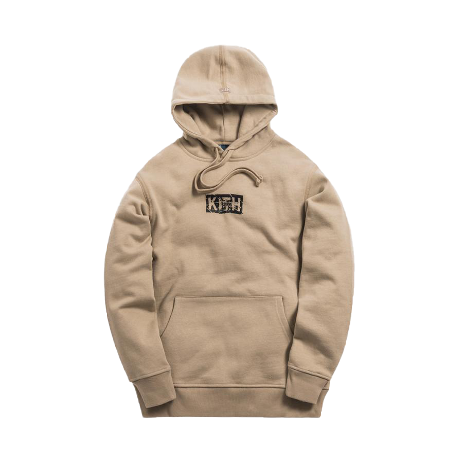 Kith Splintered Logo Hoodie Feather Grey
