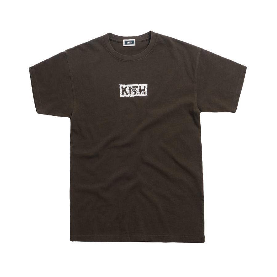 Kith Splintered Logo Tee Black/Olive