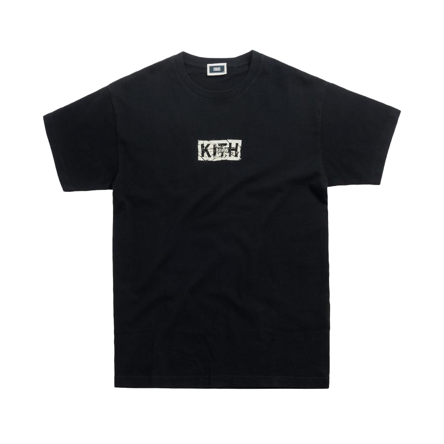 Kith Splintered Logo Tee Black