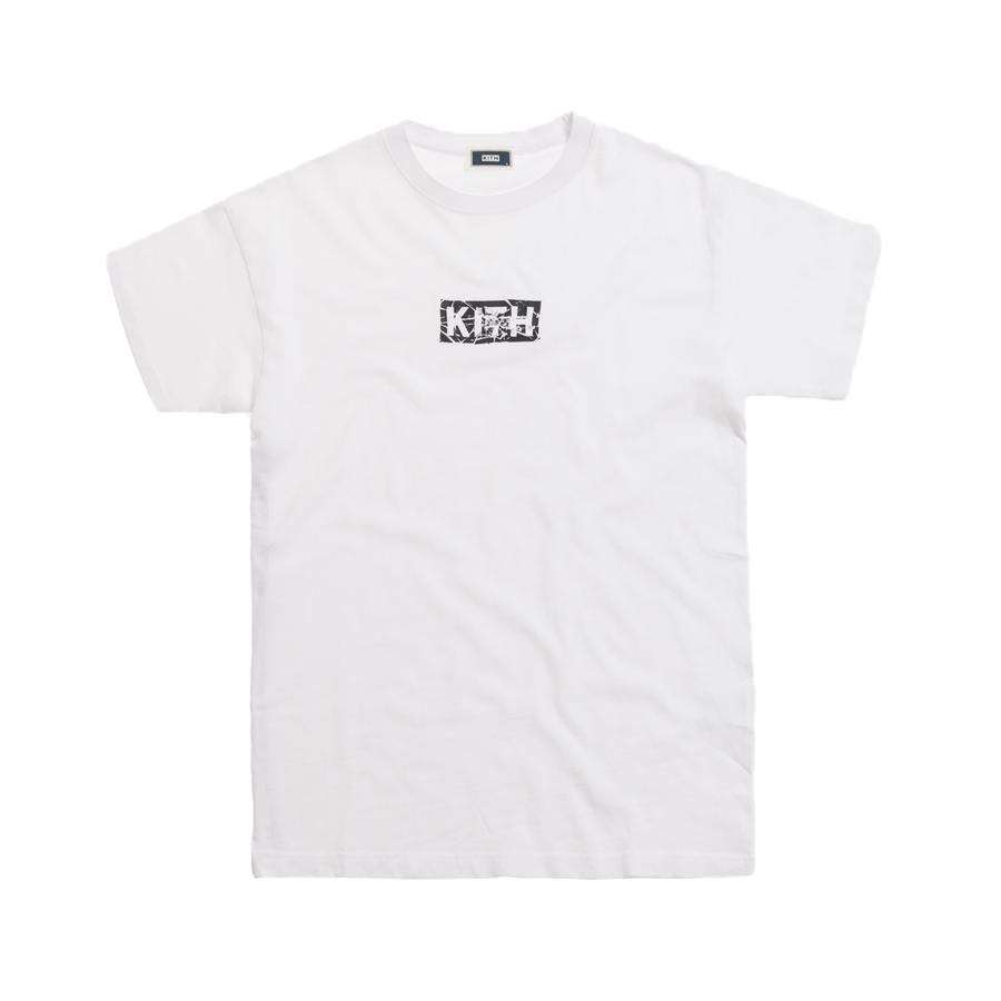 Kith Splintered Logo Tee White