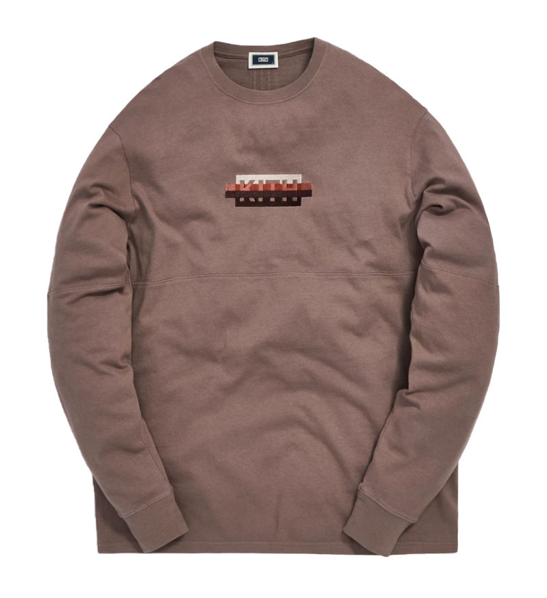 Kith Strike Through Panel L/S Tee Cinder by Stock X