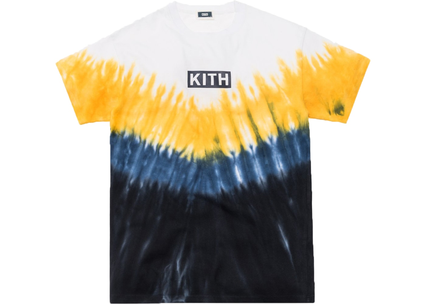 f3302a40 Kith Summer Tie Dye Tee Blue/Yellow - SS19